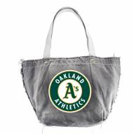 Oakland Athletics Black MLB Vintage Tote Bag