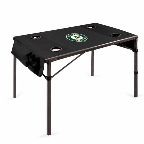 Oakland Athletics Black Travel Table