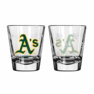 Oakland Athletics Satin Etch Shot Glass Set