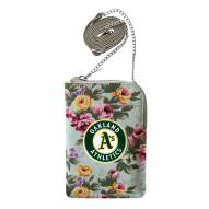 Oakland Athletics Canvas Floral Smart Purse