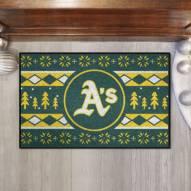 Oakland Athletics Christmas Sweater Starter Rug