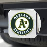 Oakland Athletics Chrome Color Hitch Cover