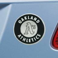 Oakland Athletics Chrome Metal Car Emblem