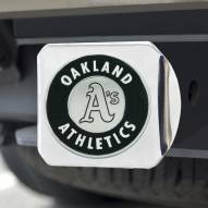 Oakland Athletics Chrome Metal Hitch Cover