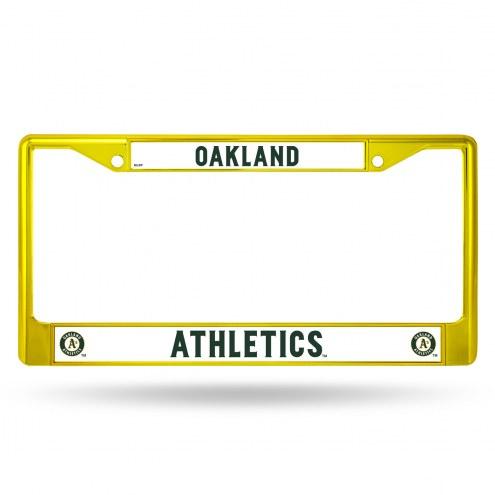 Oakland Athletics Color Metal License Plate Frame