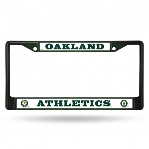 Oakland Athletics Colored Chrome License Plate Frame