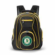 MLB Oakland Athletics Colored Trim Premium Laptop Backpack