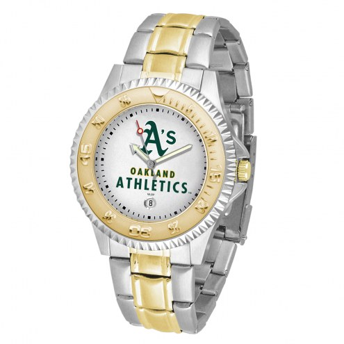 Oakland Athletics Competitor Two-Tone Men's Watch