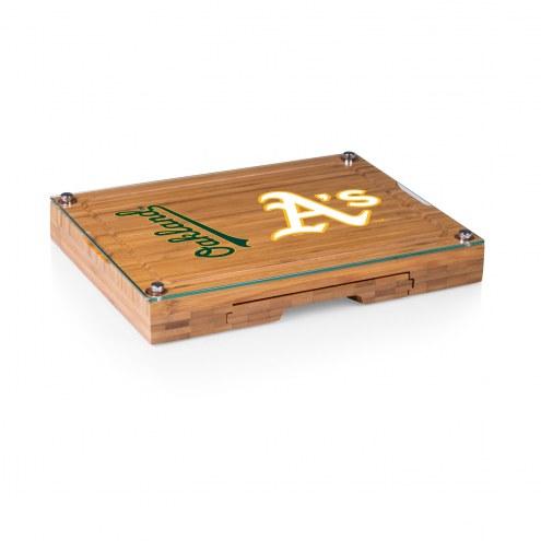 Oakland Athletics Concerto Bamboo Cutting Board