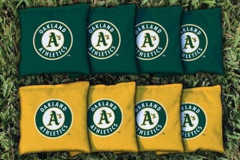 Oakland Athletics Cornhole Bag Set