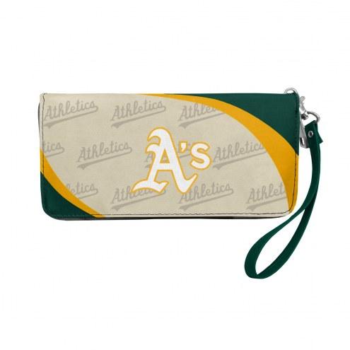 Oakland Athletics Curve Zip Organizer Wallet