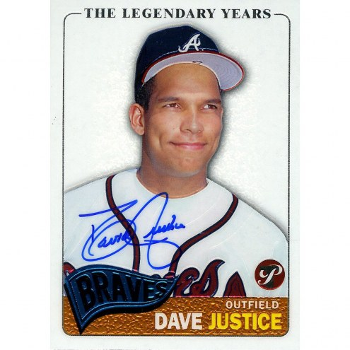 Oakland Athletics David Justice Signed 2005 Topps Card The Legendary Years