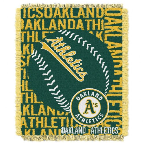 Oakland Athletics Double Play Jacquard Throw Blanket