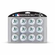 Oakland Athletics Dozen Golf Balls