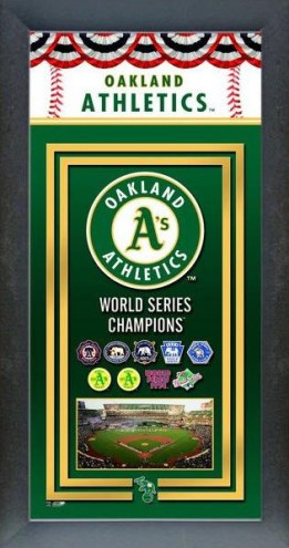Oakland Athletics Framed Championship Print