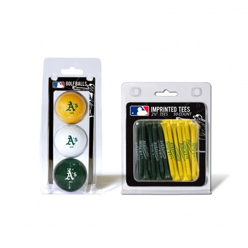 Oakland Athletics Golf Ball & Tee Pack
