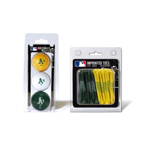 Oakland Athletics Golf Ball & Tee Pack