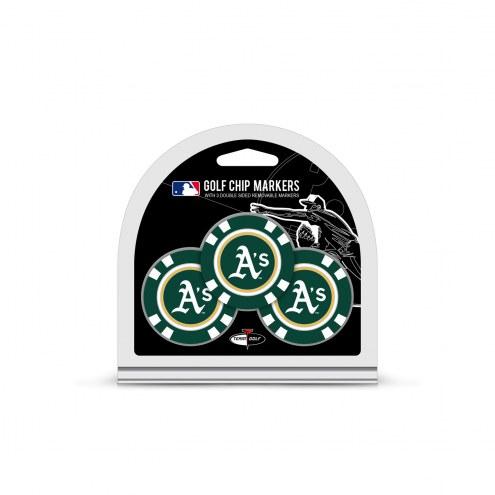 Oakland Athletics Golf Chip Ball Markers