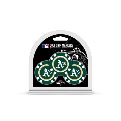 Oakland Athletics Golf Chip Ball Markers