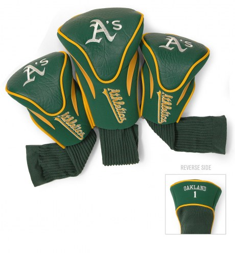 Oakland Athletics Golf Headcovers - 3 Pack