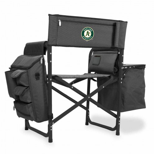 Oakland Athletics Gray/Black Fusion Folding Chair