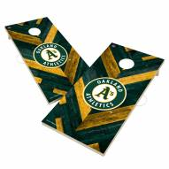 Oakland Athletics Herringbone Cornhole Game Set