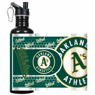 Oakland Athletics Hi-Def Black Stainless Steel Water Bottle