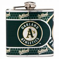Oakland Athletics Hi-Def Stainless Steel Flask