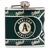 Oakland Athletics Hi-Def Stainless Steel Flask