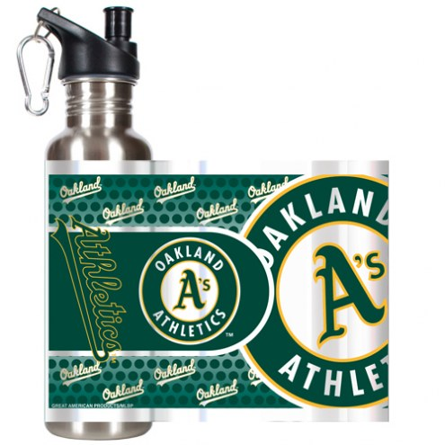 Oakland Athletics Hi-Def Stainless Steel Water Bottle