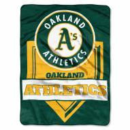 Oakland Athletics Home Plate Plush Raschel Blanket