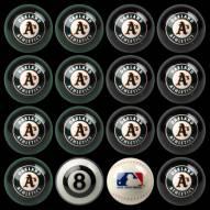 Oakland Athletics MLB Home vs. Away Pool Ball Set