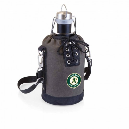 Oakland Athletics Insulated Growler Tote with 64 oz. Stainless Steel Growler