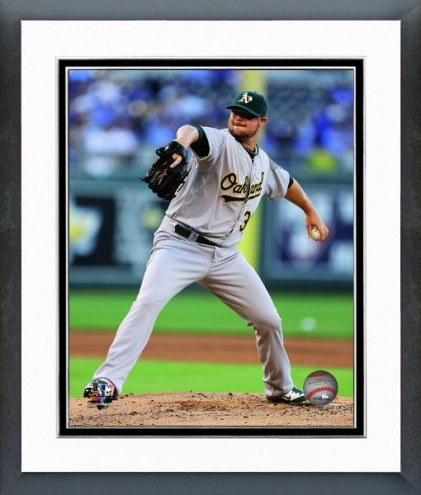 Oakland Athletics Jon Lester Action Framed Photo