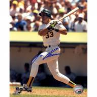 Oakland Athletics Jose Canseco Signed Swing 8 x 10 Photo