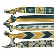 Oakland Athletics Knotted Hair Tie
