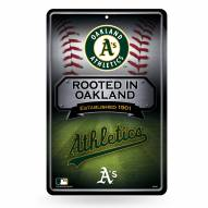 Oakland Athletics Large Embossed Metal Wall Sign