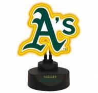 Oakland Athletics Team Logo Neon Light