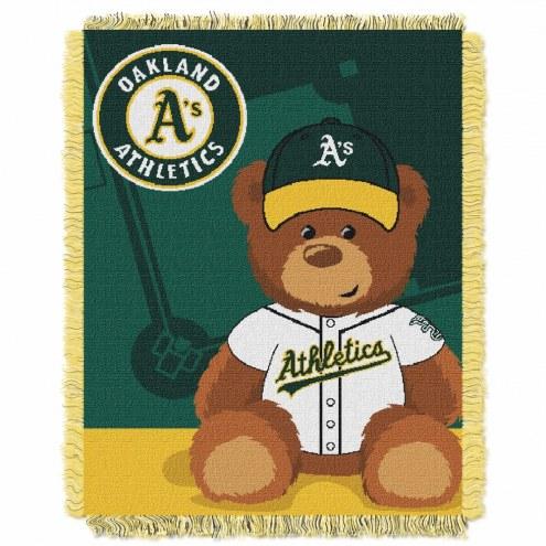 Oakland Athletics MLB Baby Blanket