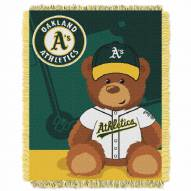Oakland Athletics MLB Baby Blanket