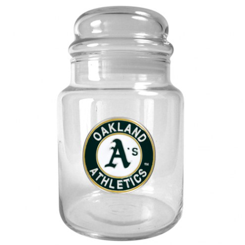 Oakland Athletics MLB 31 Oz Glass Candy Jar