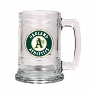 Oakland Athletics MLB 2-Piece Glass Tankard Beer Mug Set