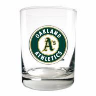 Oakland Athletics MLB 2-Piece 14 Oz. Rocks Glass Set