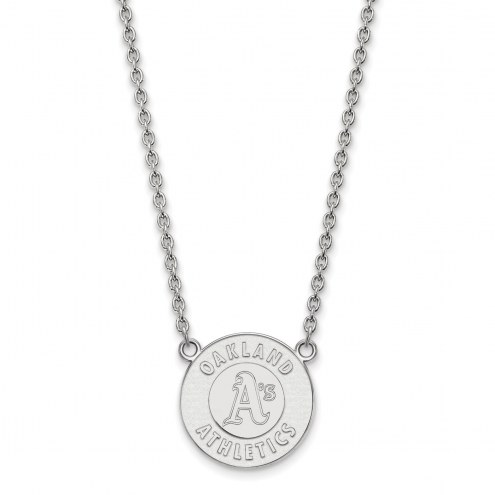 Oakland Athletics Sterling Silver Large Pendant Necklace