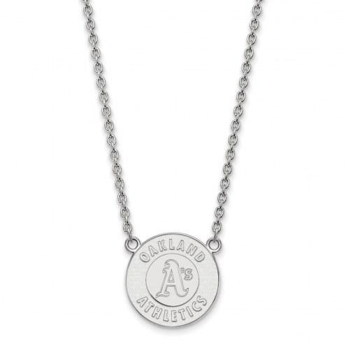 Oakland Athletics Sterling Silver Large Pendant Necklace