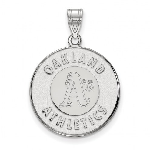 Oakland Athletics Sterling Silver Large Pendant