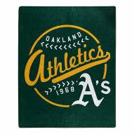Oakland Athletics Moonshot Raschel Throw Blanket
