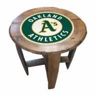 Oakland Athletics Oak Barrel Table