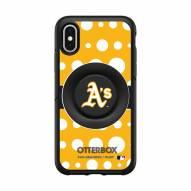 Oakland Athletics OtterBox Symmetry Polka Dot PopSocket iPhone Case