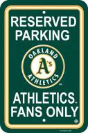 Oakland Athletics Parking Sign